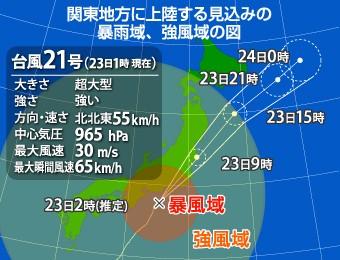 台風の進路図