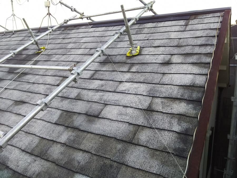 コロニアル屋根メンテナンス 洗浄後