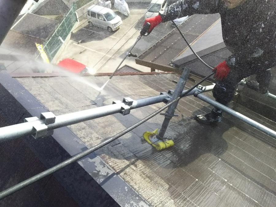 コロニアル屋根メンテナンス 高圧洗浄