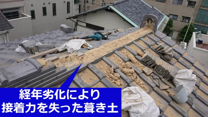 葺き土の経年劣化