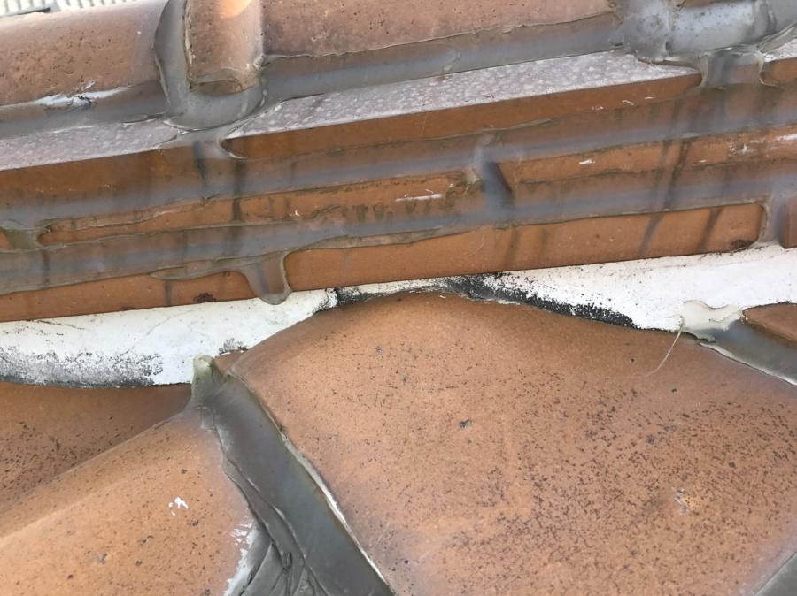 雨漏り葺き替え点検で漆喰調査