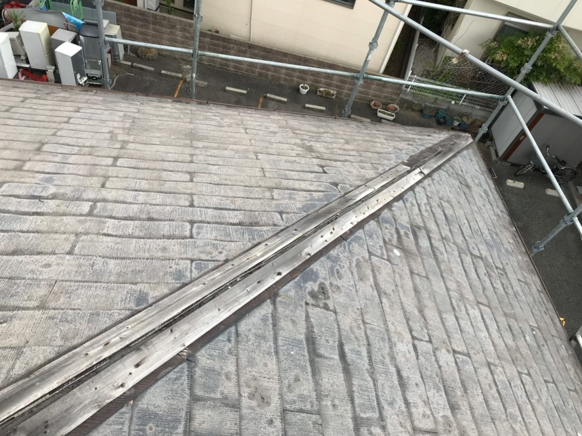 棟板金の飛散の現状