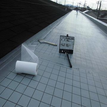 ウレタン防水工事 ガラスクロス貼り付け
