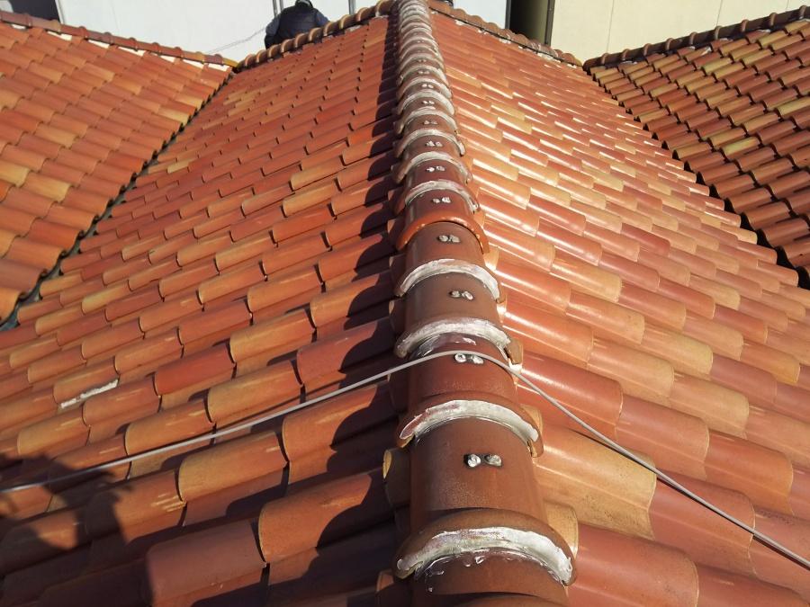 屋根葺き替え工事 ビフォー