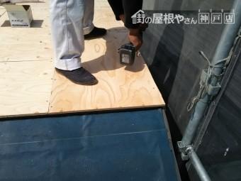 下地構造用合板12mm施工
