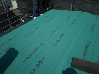 防水シート施工完了