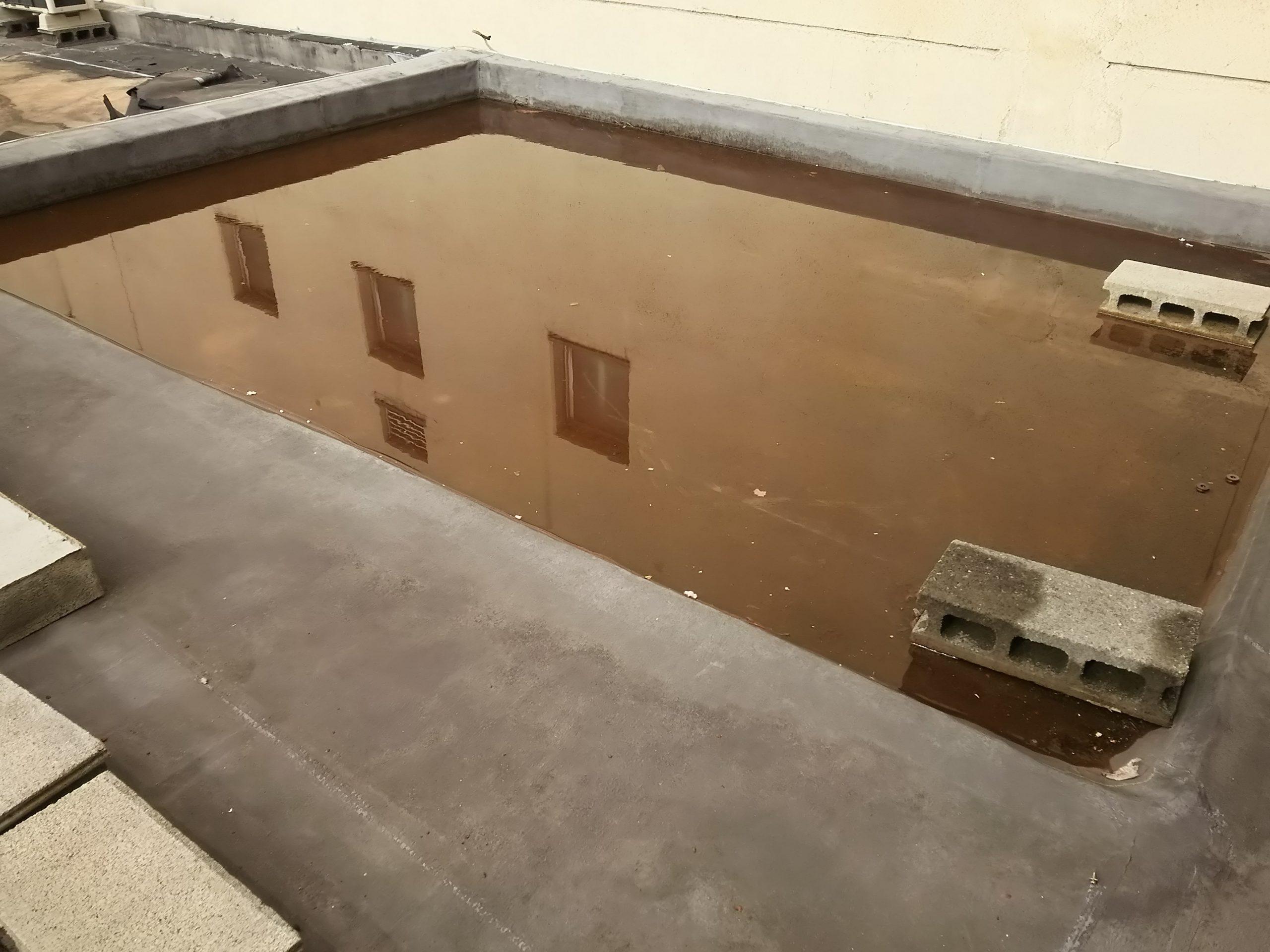 陸屋根の水溜まり
