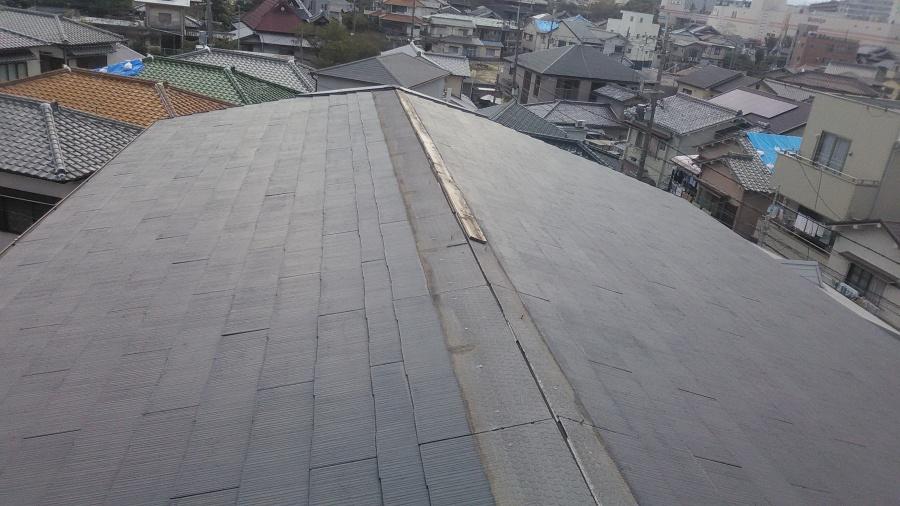 コロニアル屋根棟板金の飛散