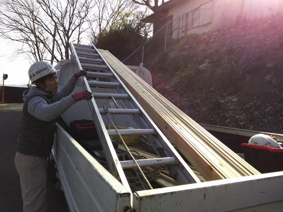 屋根リフォーム工事着工時