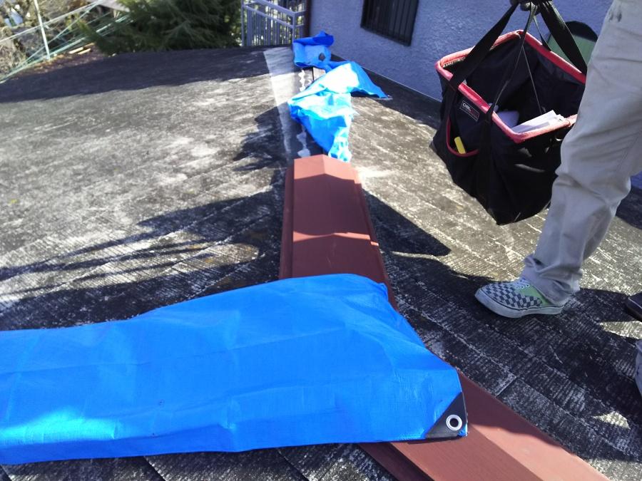 屋根リフォーム工事開始 施工前