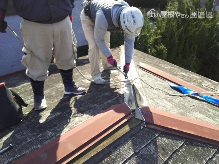 棟包みの捲り作業