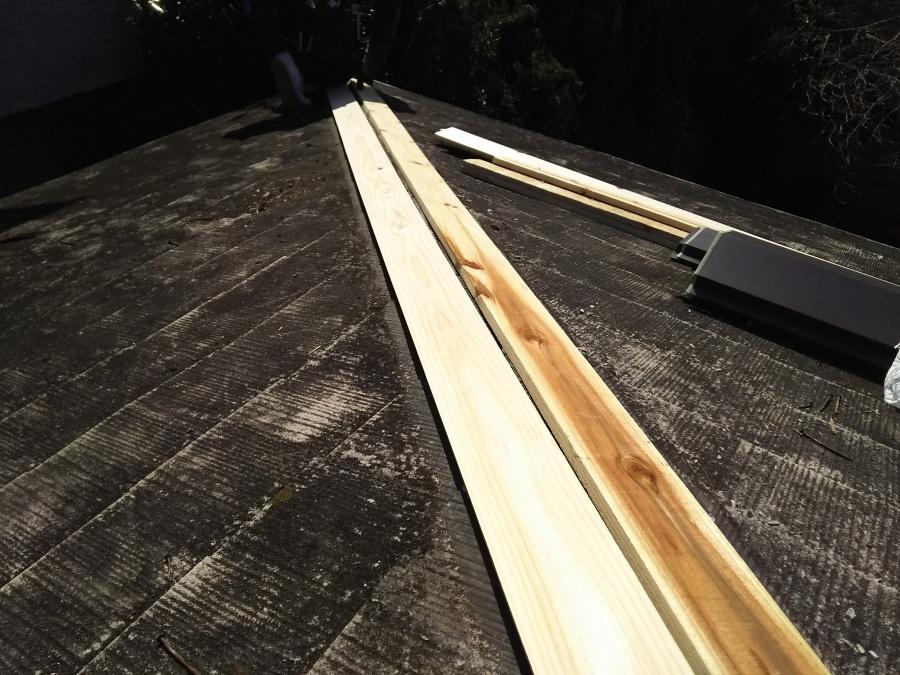 新しい貫板施工
