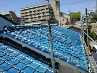 ガルバリウム鋼板立平葺きに葺き替え予定の瓦屋根