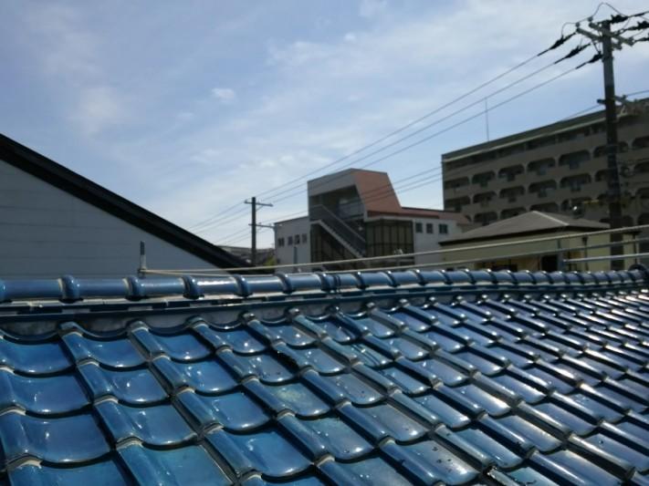 神戸市北区 瓦→ガルバリウム鋼板立平葺きに葺き替え