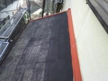 根塗装工事 下屋根 サビ塗り