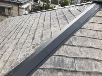 神戸市中央区 棟板金をジョイントして修理していきます。