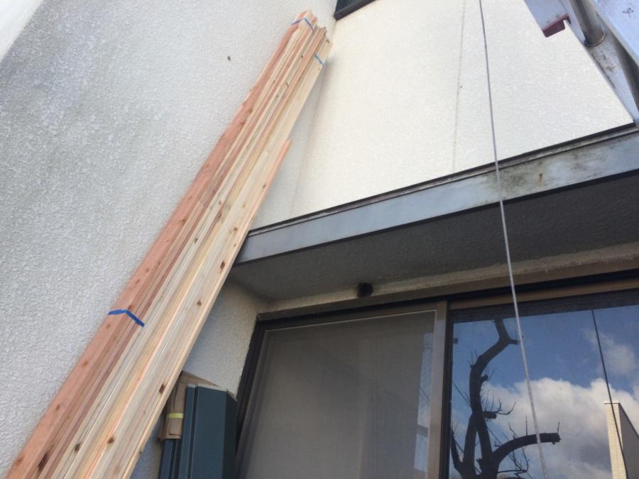 コロニアル屋根新しい棟下地貫板