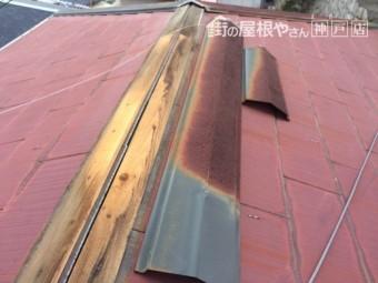棟下地の貫板の様子