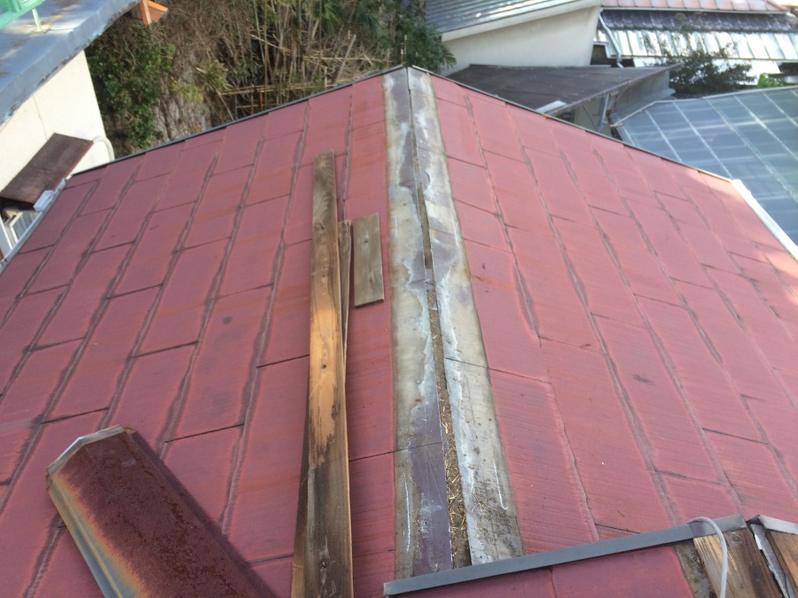 コロニアル屋根棟の撤去完了