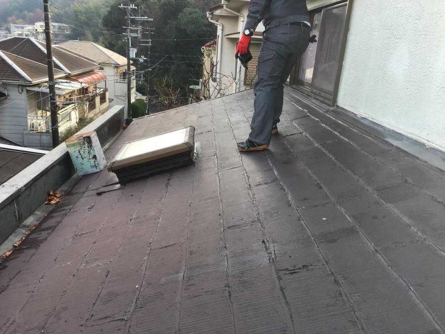 屋根調査時カラーベスト屋根