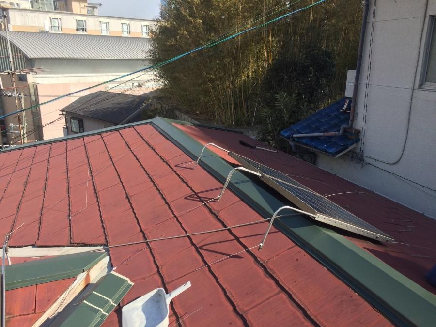 コロニアル屋根棟板金交換完了