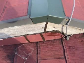 破風板、隙間コーキング