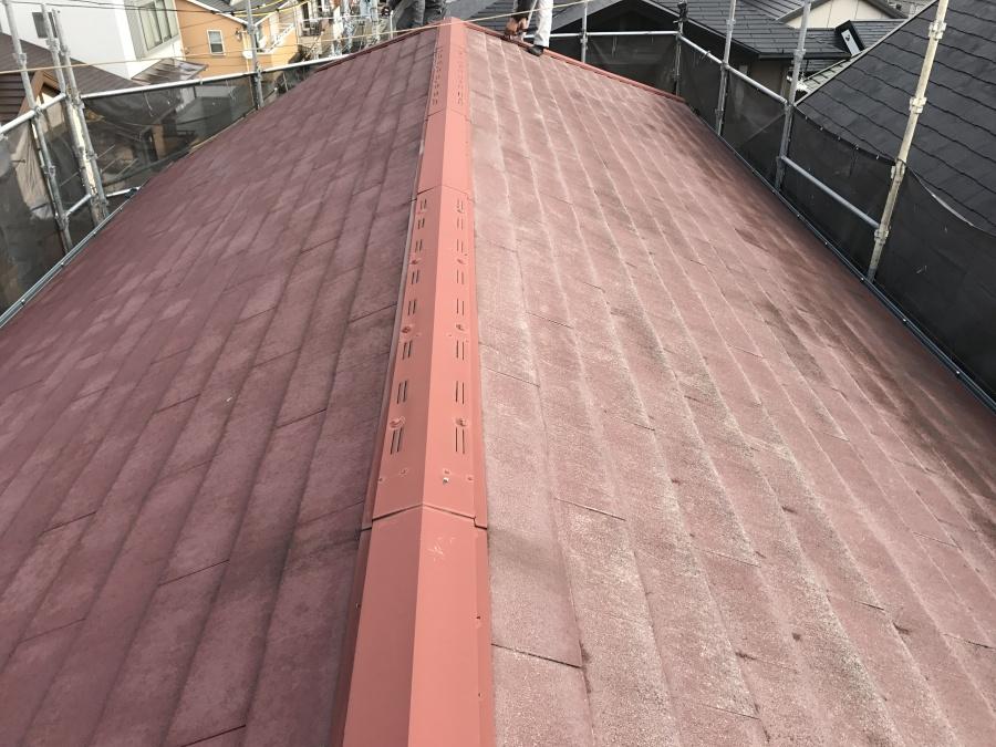 コロニアル屋根カバー工事