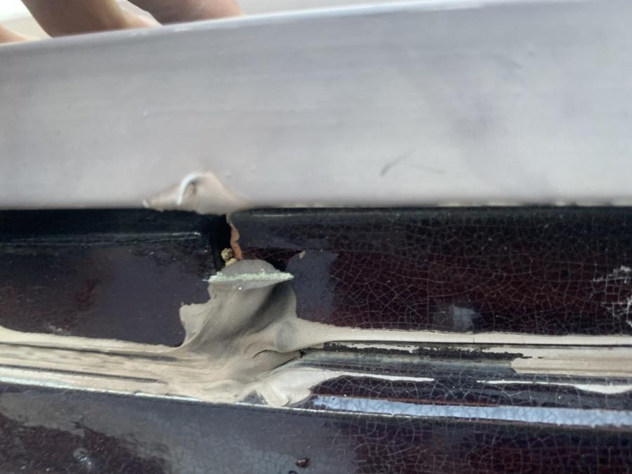 雨漏り調査 熨斗瓦のラバーロックの隙間