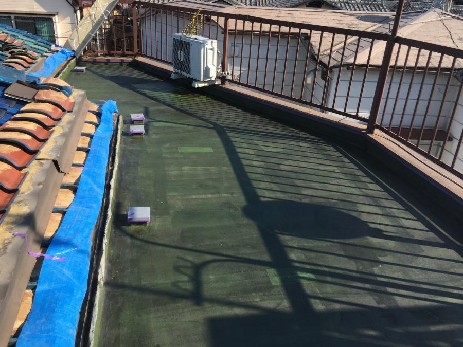 ウレタン防水工事カチオンペースト処理