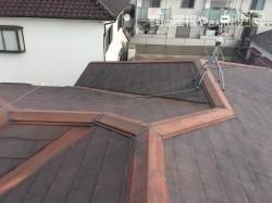 屋根、塗装前の様子