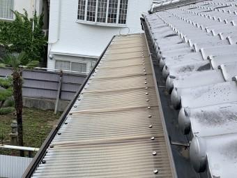 塩ビ波板の劣化