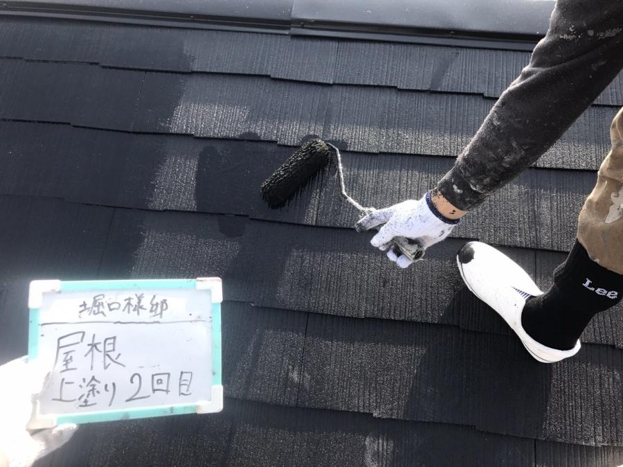 コロニアル屋根メンテナンス コロニアル上塗り