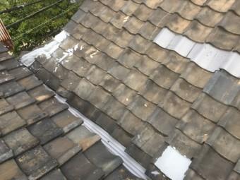 神戸市 補修が行われている瓦屋根調査
