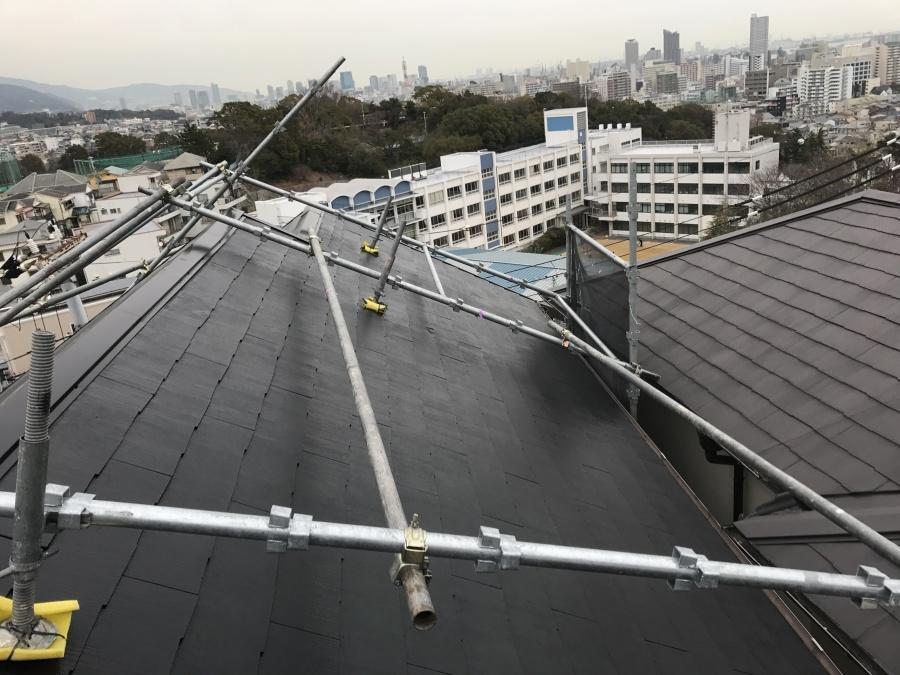 コロニアル屋根メンテナンス コロニアル塗装完了