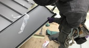 立平は壁際側を現場で立ち上げ処理をします。