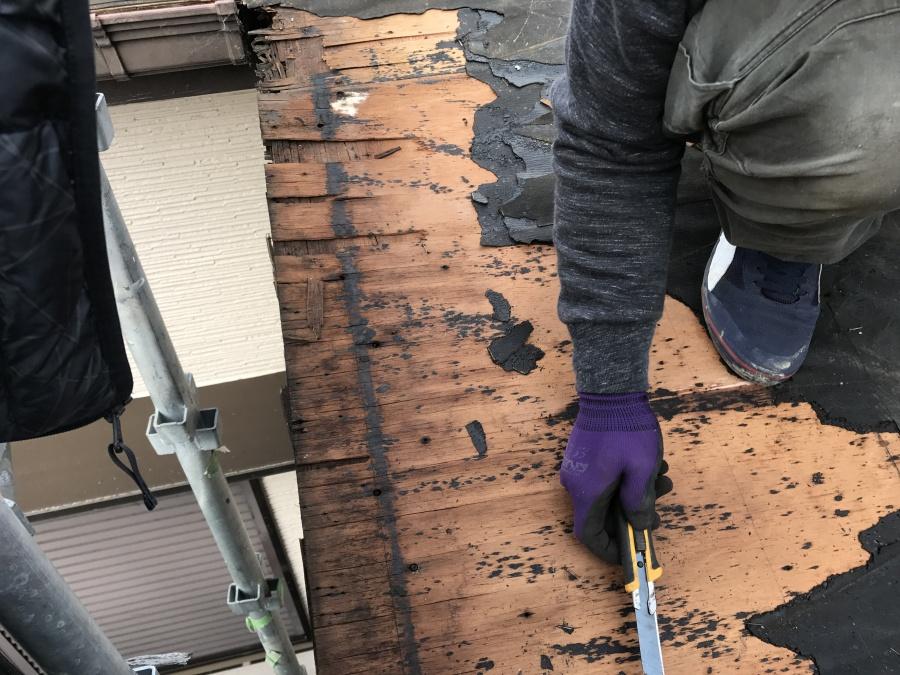 アーバニー屋根 朽ちた野地板の撤去