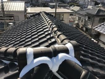 神戸市北区スーパーガルバリウム鋼板葺き替え予定瓦屋根