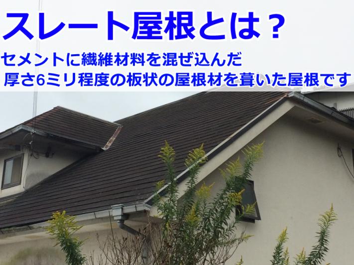 スレート屋根の外観