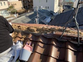 神戸市中央区 瓦の撤去 土の撤去