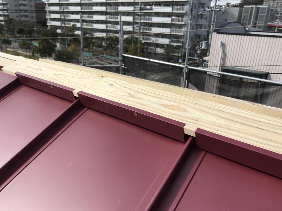 コロニアル屋根カバー工事 エプロン面戸取付