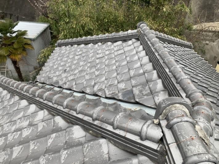 神戸市兵庫区 いぶし瓦屋根調査