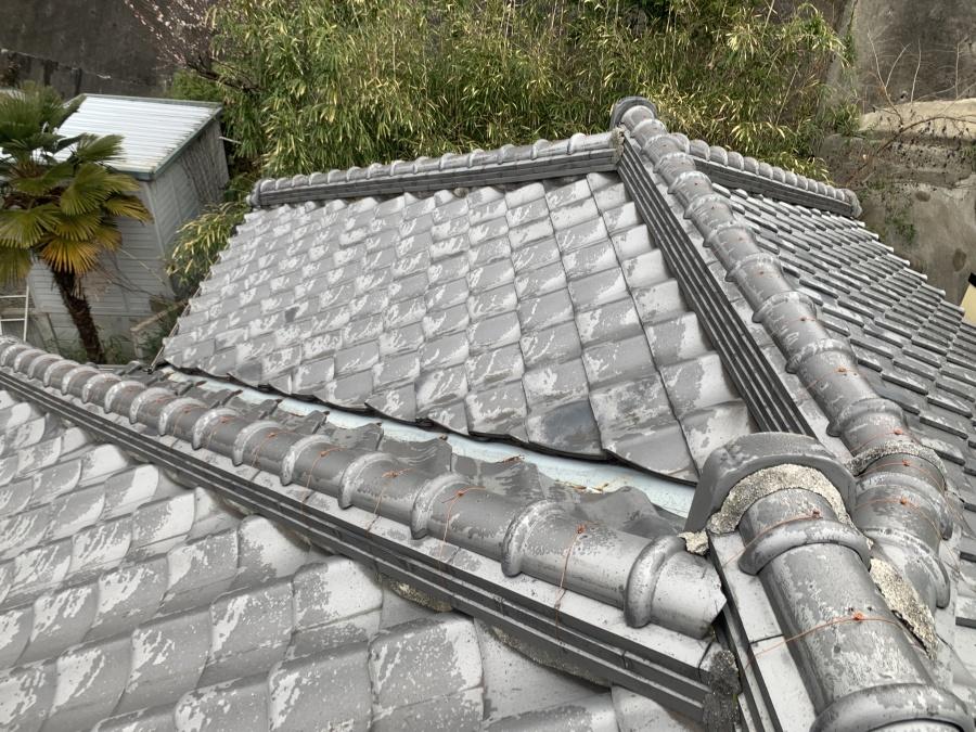 神戸市兵庫区 瓦屋根補修前に無料点検を行いました