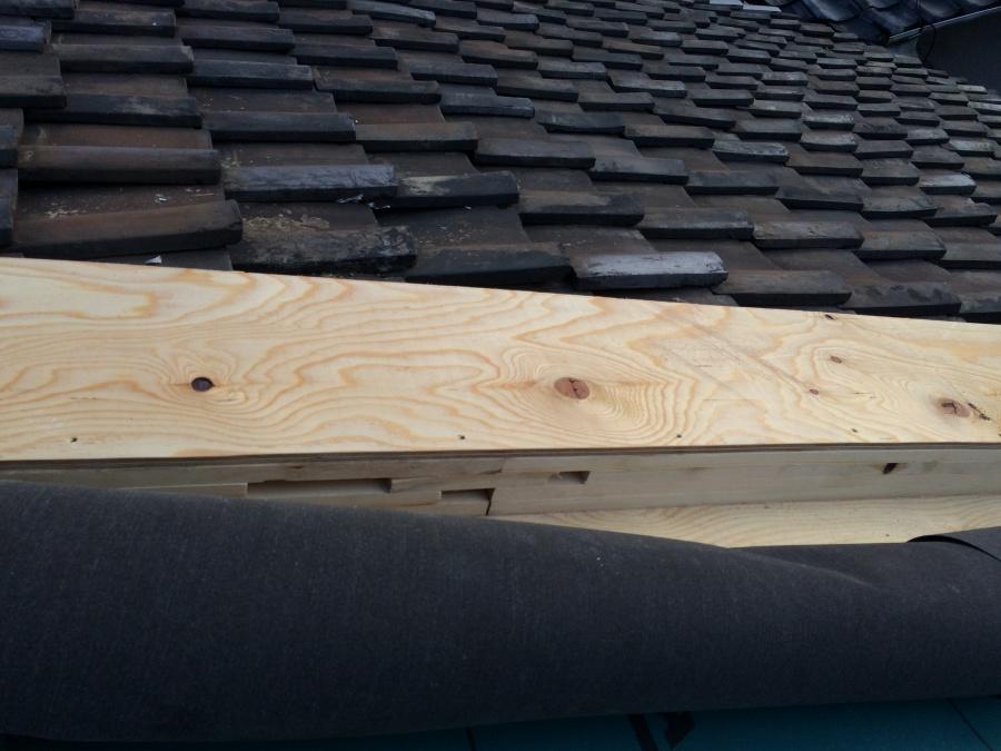 連棟造り屋根、取り合いの下地処理