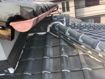 ラバーロックが施された瓦屋根