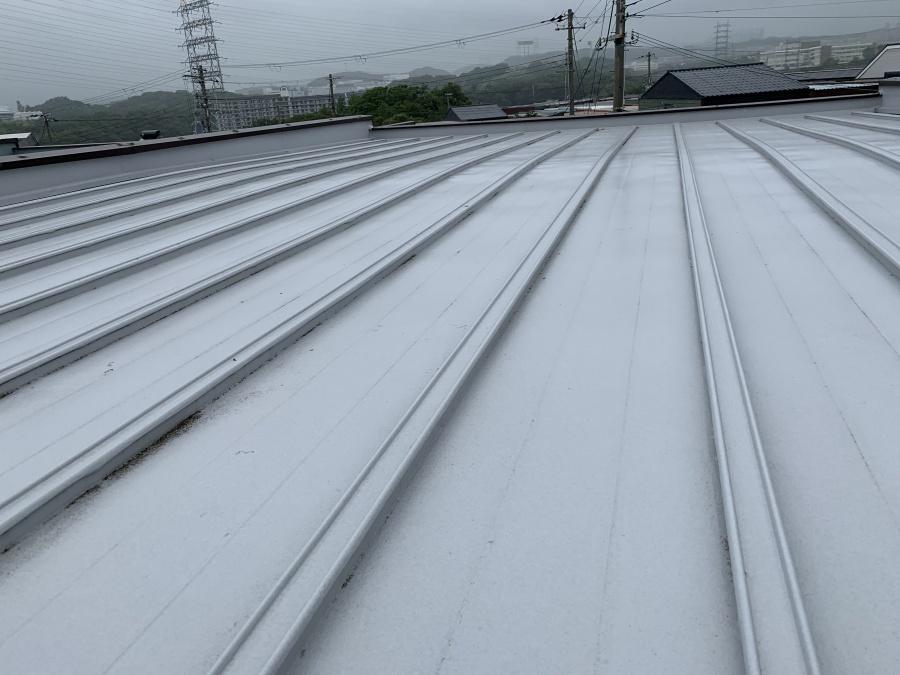 屋根工事前点検時の瓦棒葺き屋根