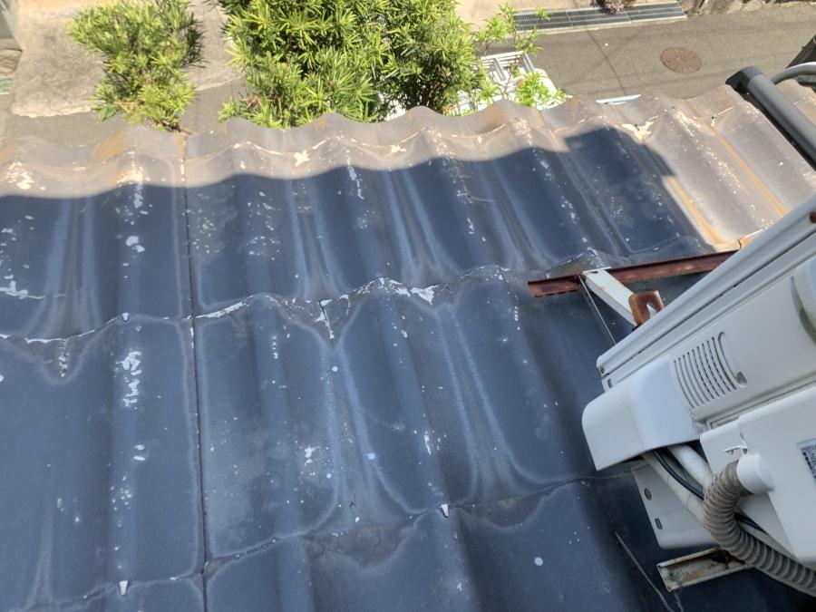 雨漏り調査時のかわらU屋根