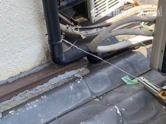 神戸市須磨区 ご主人様により補修がされている壁際