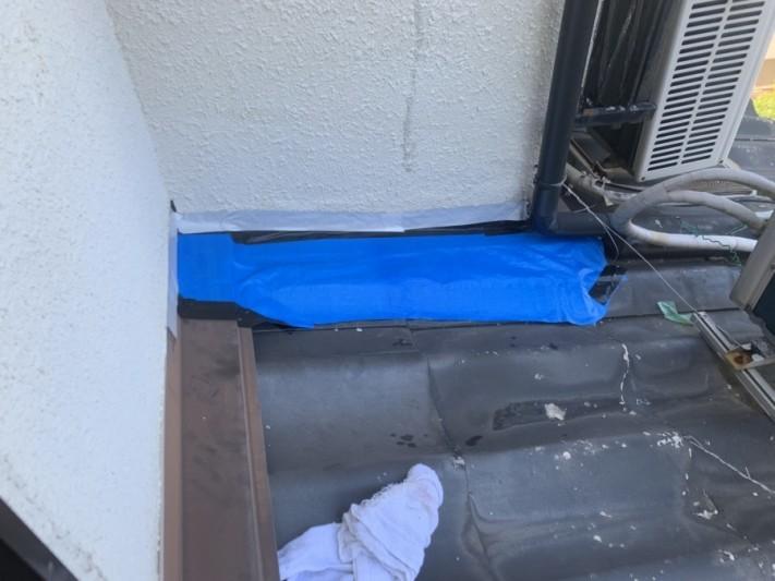 雨漏り調査時に雨養生