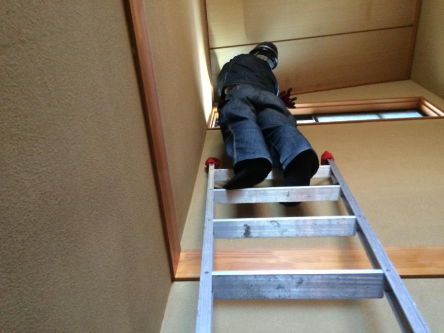 天井の染み点検