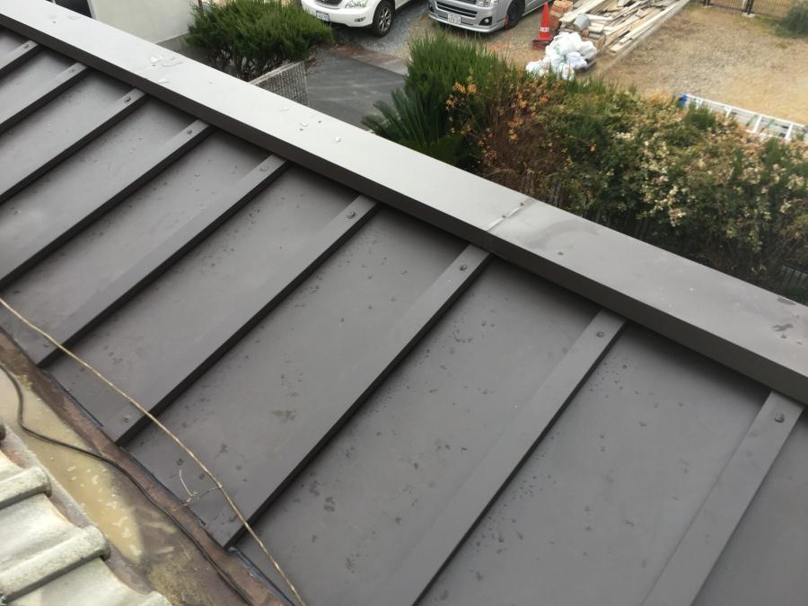 瓦棒屋根カバー工事完成